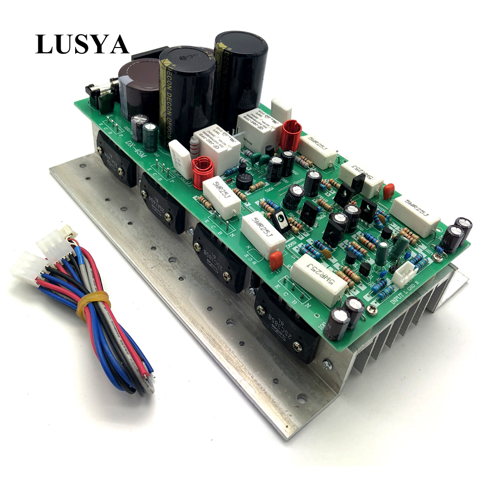 Lusya <font><b>HIFI</b></font> SanKen1494/3858 PowerAmplifier Board 450W+450W 2.0 Stereo channel AMP Mono <font><b>800W</b></font> Audio <font><b>Amplifier</b></font> Board AC24-36V T0003 image