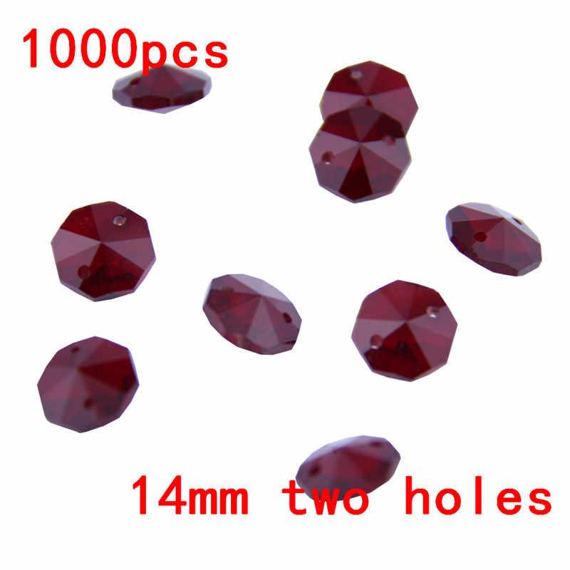 AAA 1000 шт 14 мм темный канделябр красный хрусталь бисера в 2 отверстия для стеклянной гирлянда из бусин нити висячие украшения