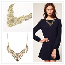 New SBY0338 Fashion Brazil Chokers chunky Hollow statement necklaces
