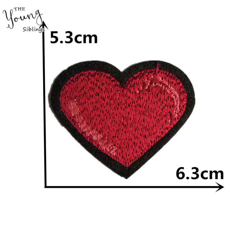 Iron On Applique Patch Crafts Crafts Heart Valentines White Love
