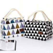 Переносная сумка для пикника на открытом воздухе Кемпинг Туризм узор Геометрическая Печать красочный треугольник тепловой Ланч-бокс еда изолированная сумка-холодильник