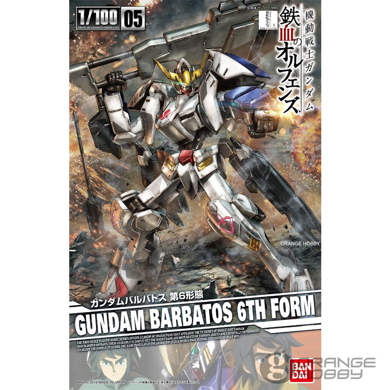 OHS Bandai TV Iron-Blooded Orphans Season I 05 1/100 Gundam Barbatos 6th Form Mobile Suit Assembly plastic Model Kits ohs bandai tv iron blooded orphans season i 04 1 100 gundam gusion rebake mobile suit assembly plastic model kits