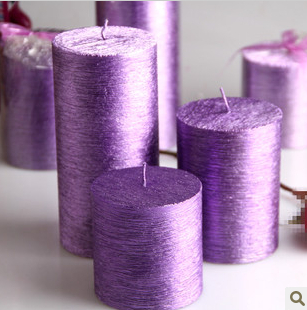 Fournitures de vacances décoration de mariage d'anniversaire décorative sans fumée parfum bougies bougies parfumées bougie de mariage