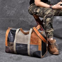 Genuine Leather Military Duffel Bag Distressed Leather Travel