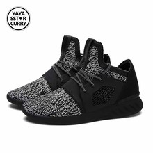 YAYA SSTAR CURRY Men Shoes Fly Weave Air Mesh Lightweight Men Shoes Boosts Zapatos Hombre Summer Breathable Flat running Shoes