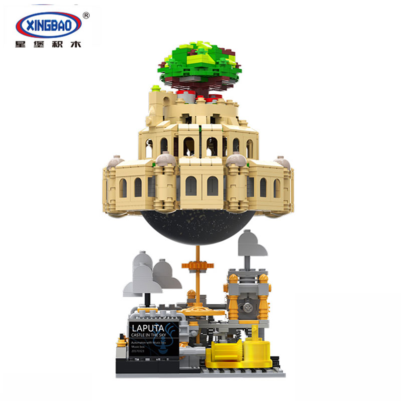 XingBao 05001 Blocks 1179Pcs Genuine Creative MOC Series The City in The Sky Set Educational Building Blocks Bricks toys Model tp 5 touch screen professional tattoo power supply hp 2 hurrican upgrade power supply digital lcd display tattoo power supply