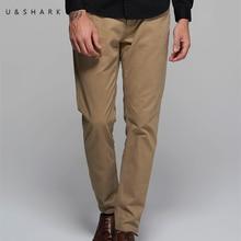 U & shark hohe qualität designer lässige khaki hosen regelmäßige marke männer arbeitskleidung luxus 2017 frühling baumwolle formale büro hosen männlich