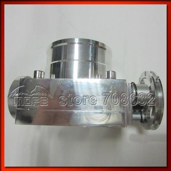 Алюминиевый сплав Универсальный VQ37TPS 80 мм дроссельной заслонки серебро