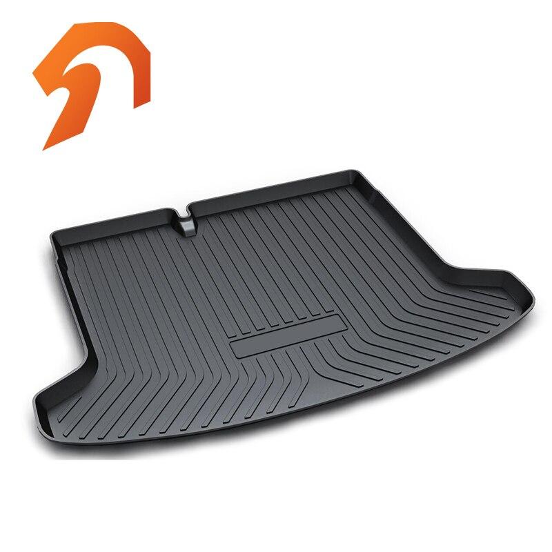 Rubber Rear Trunk Cover Cargo Liner Trunk Tray Floor Mats For NISSAN KICKS 2016-2018 Carpet Liner Mats