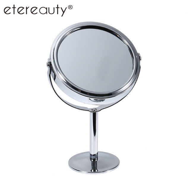 Us 4 7 41 Off Double Sided Magnifying Makeup Table Mirror Round Rotary Desk Mirror Stand Table Mirrors Ladies Women Cosmetic Makeup Mirrors In