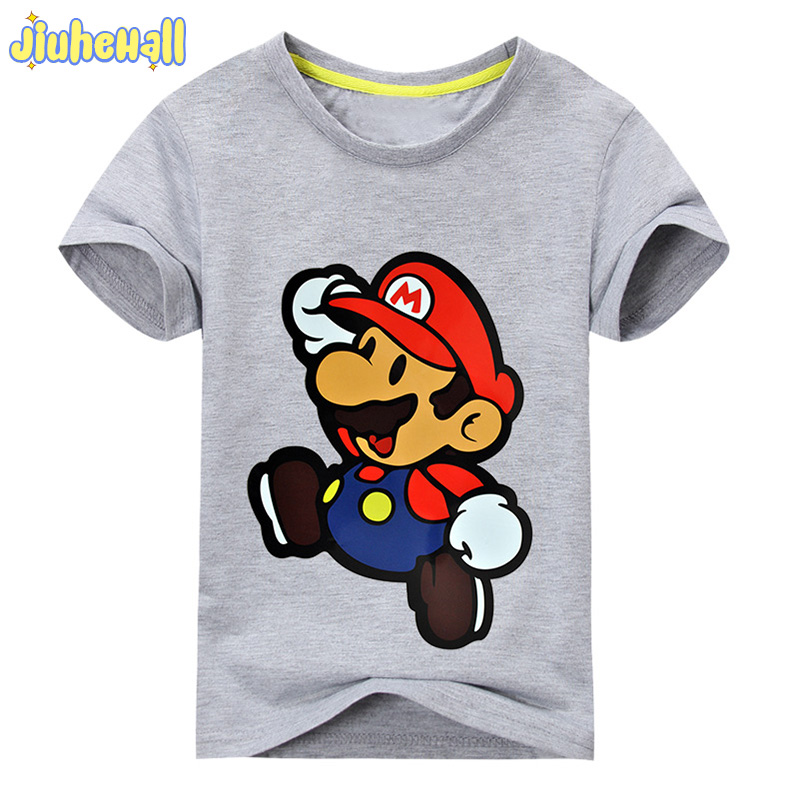 2017 Children New Cartoon Printing Short Sleeves T-shirts For Boys Girls 100%Cotton Shirts Clothes Kids Tee Tops ACY012