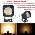 LED Par Light COB 200 Вт высокомощное алюминиевое DJ DMX Led освещение для сценического освещения  холодный белый или теплый белый на выбор