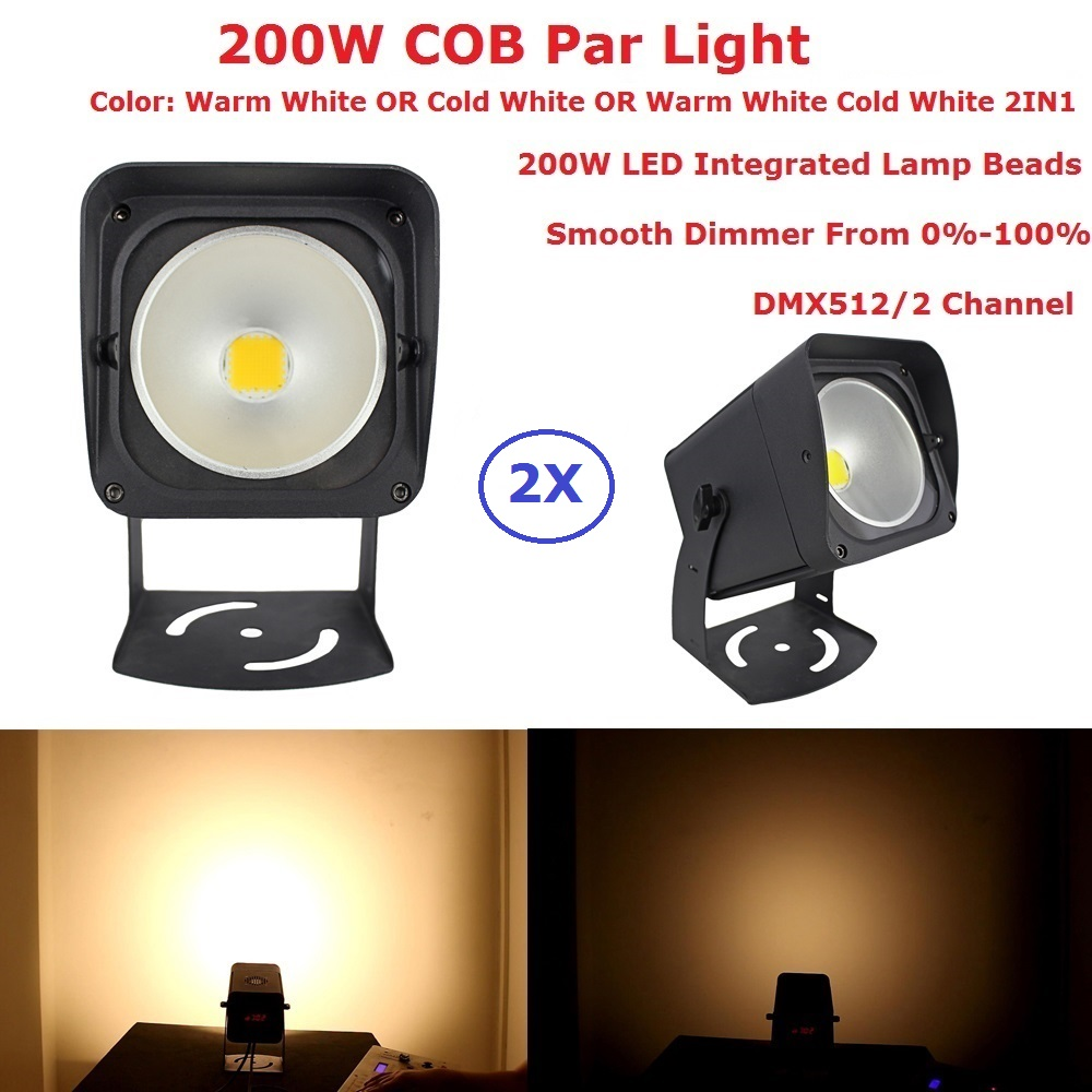 LED Par Light COB 200W High Power Aluminium DJ DMX Led Beam Wash Strobe Effect Stage Lighting,Cool White Or Warm White Optional