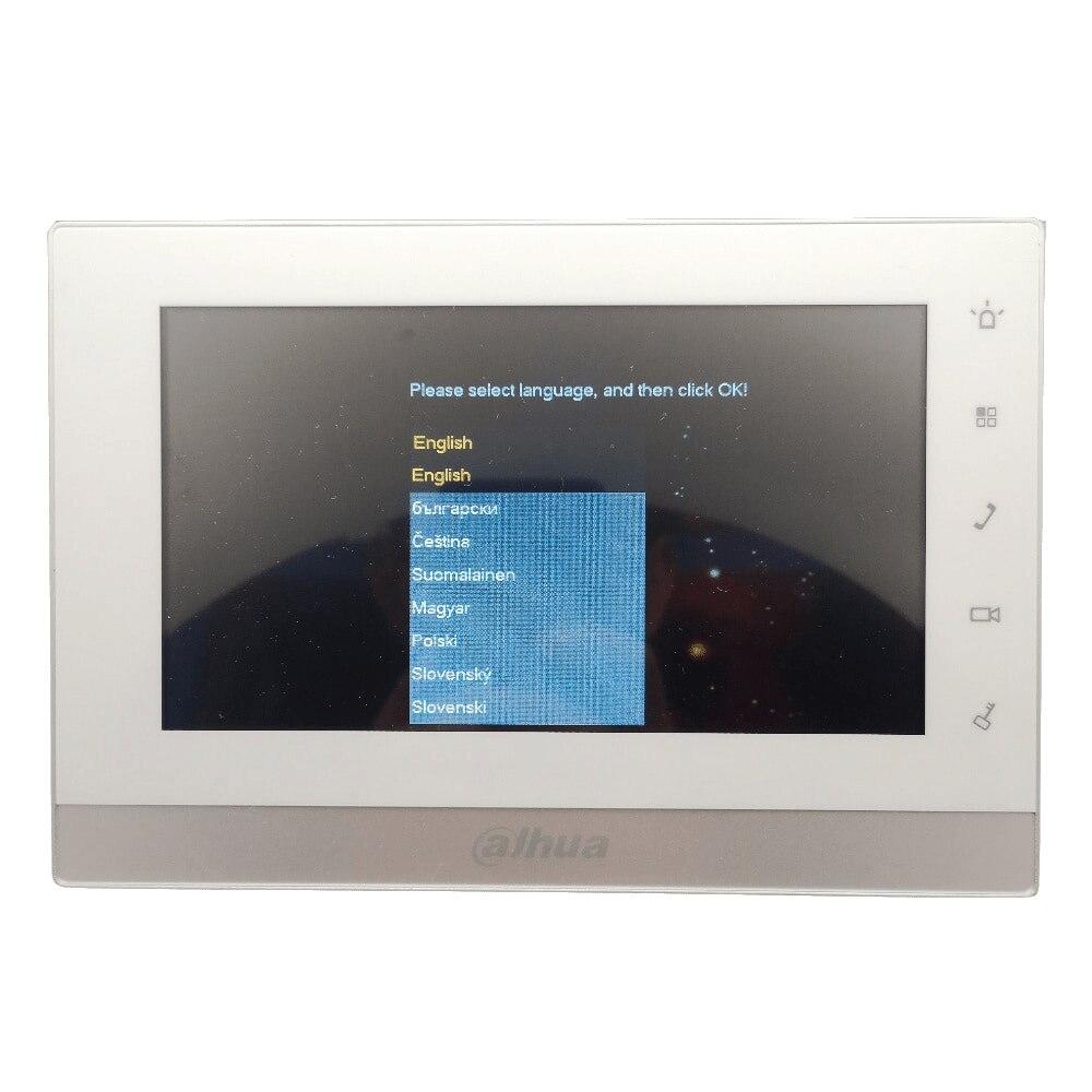 AHUA Multi-idioma 2-Alambre de VTH1550CHW-2 Monitor de interior trabajar con VTO2000A-2 IP timbre. video intercomunicador con cable timbre - 3