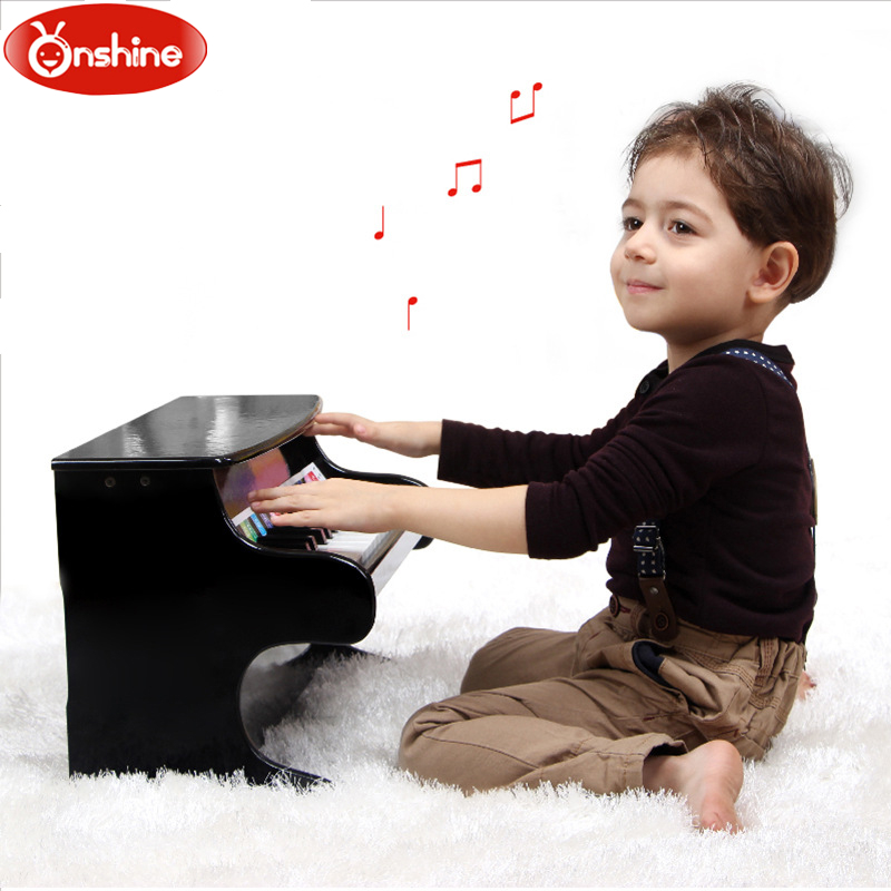 Wooden Children Piano Musical Toys 25 Keys Artificial Piano Can Play Bady Early Education Toy Gift 2 Color puzzle multifunctional piano baby early education music hand drums intelligent piano toys