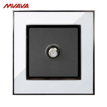 MVAVA Satellite TV Socket Smart Cable Plug Multifunctional Television Outlet Luxury Mirror White Wall Receptacle Free Shipping