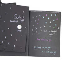 Sketchbook Diary Drawing Painting Graffiti Soft Cover Black Paper Sketch Book Notebook Office School Supplies Gift