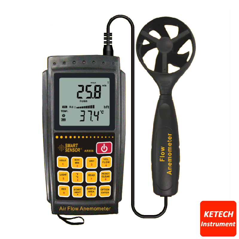 цена на Air Flow Meter Wind Speed Tester Anemometer with USB AR856