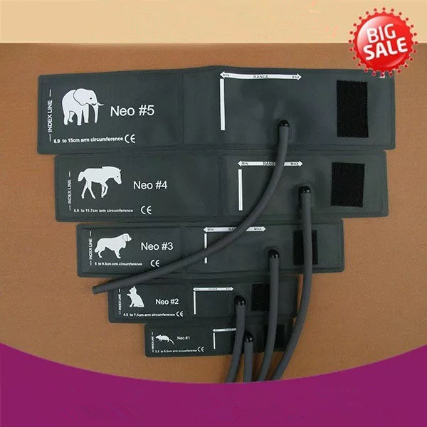 all size elephant horse dog cat and mouse veterinary blood pressure cuff of patient monitor for small animals with single tube veterinary blood pressure cuff of patient monitor for small animals with single tube full 5sizes packing