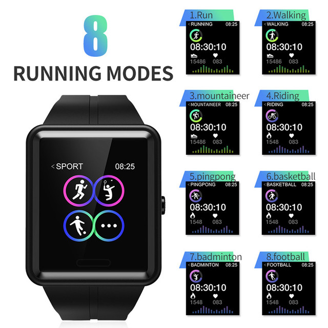 Sport Smart Watch Men Bluetooth Colorful Smartwatch Men Fitness Sleep Tracker Relogio Inteligente For Android IOS