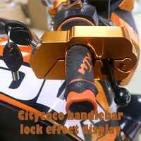 Citycoco El Kilit CNC Alüminyum Alaşım Hırsız Kilidi Kaplama Güve Ana Anahtar Emniyet Elektrikli Scooter E-Bike yetişkin Scooter Parçaları