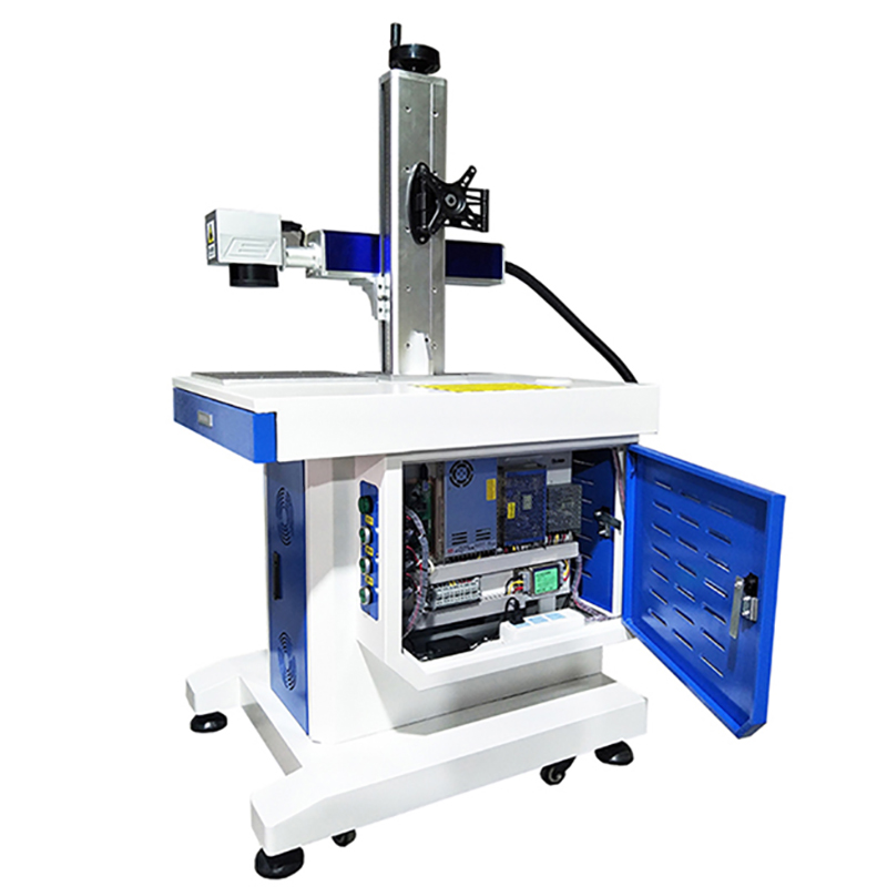 Competitive Price!! Full Closed Fiber Laser Marking Machine 20w 30w Mopa MAX Raycus IPG Optional Laser Source For Fiber Laser