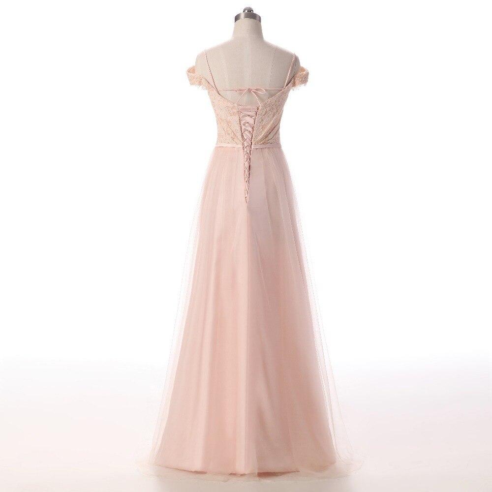 Nueva elegante rosa claro Vestidos de noche 2018 del hombro tulle ...