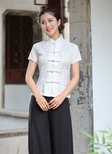 New National Trend Lace White Chinese Traditionary Style Women's Girl Casual Shirt Blouse Tops S M L XL XXL 3XL 2520-5