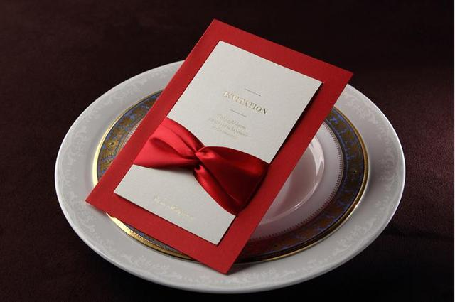 Wedding Invitations Red Invitation Card Personalization Chinese Style Creative Company Business To 50
