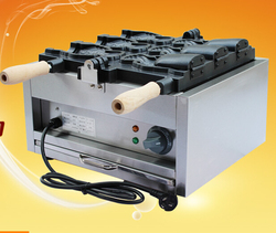 FY-1103B 220V Japanses open mouth taiyaki machine | electric fish shaped cake machine/ice cream taiyaki maker 2000w 1pc