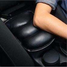 Microfiber Leather Car Armrest Pad Soft Universal Vehicle Auto Armrests Covers Car Center Console Arm Rest Seat Box Pads 28X21CM(China)