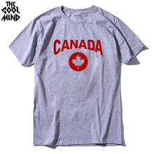 THE COOLMIND Top quality Men's Canada print T shirt 2017 Casual o-neck fashion T-Shirt Cotton Costume short Sleeve t shirt(China)