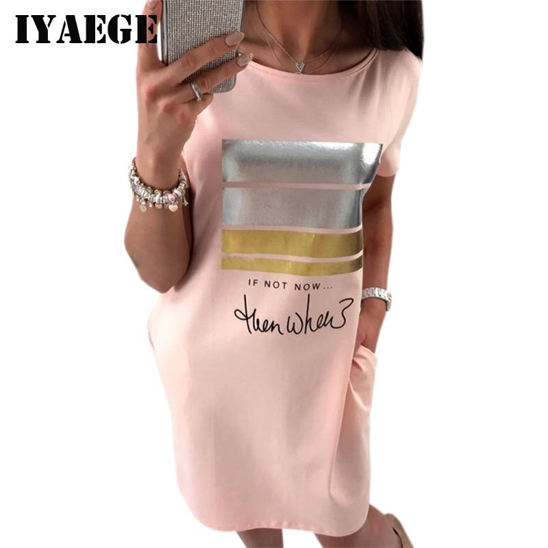 Iyaege 2017 kawaii carta imprimir camiseta Vestido Mujer manga corta ...