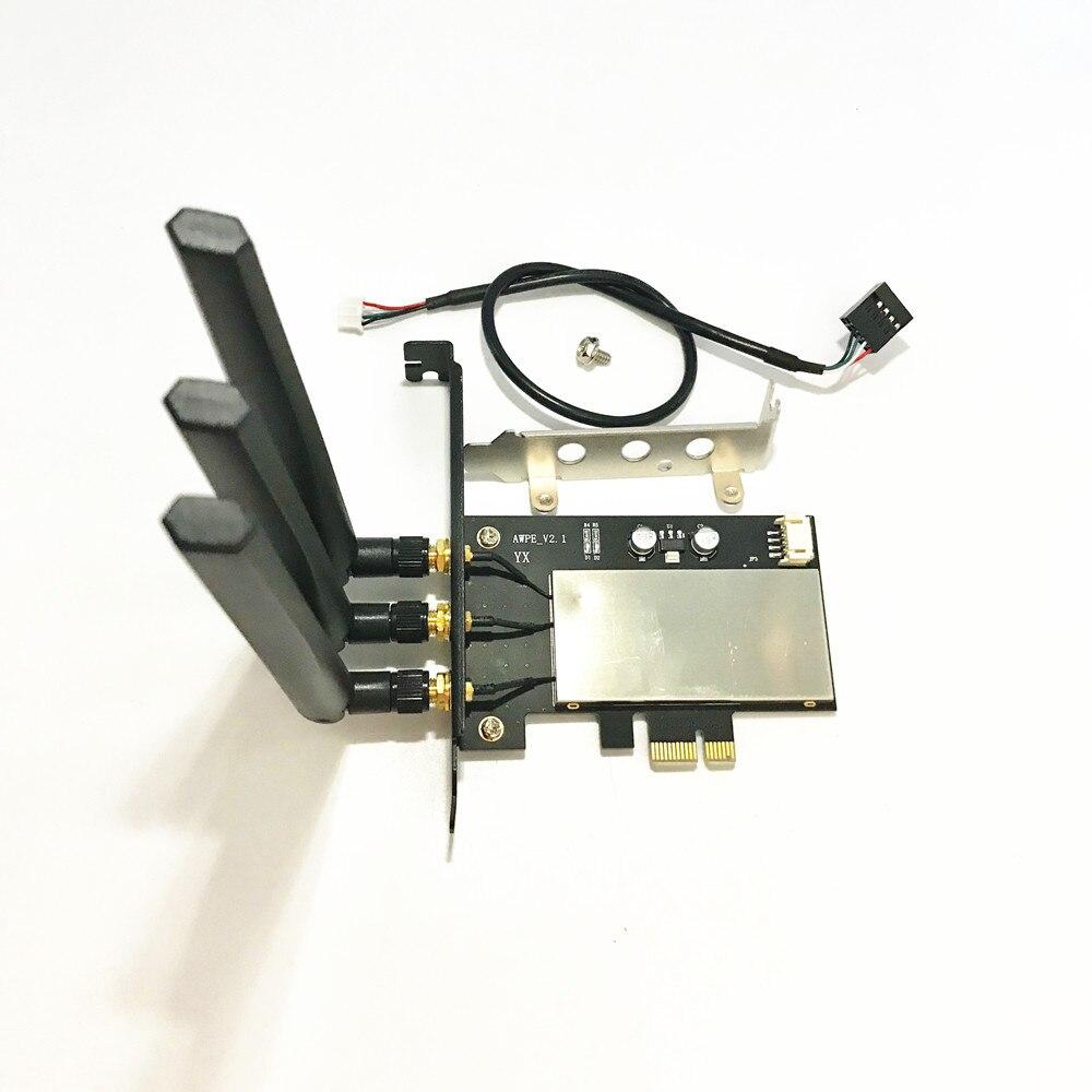 Broadcom BCM943602CS 867Mbps Dual Band 802.11ac Desktop PCI-E 1X WiFi Adapter PCi Express Wireless Card + Bluetooth 4.0