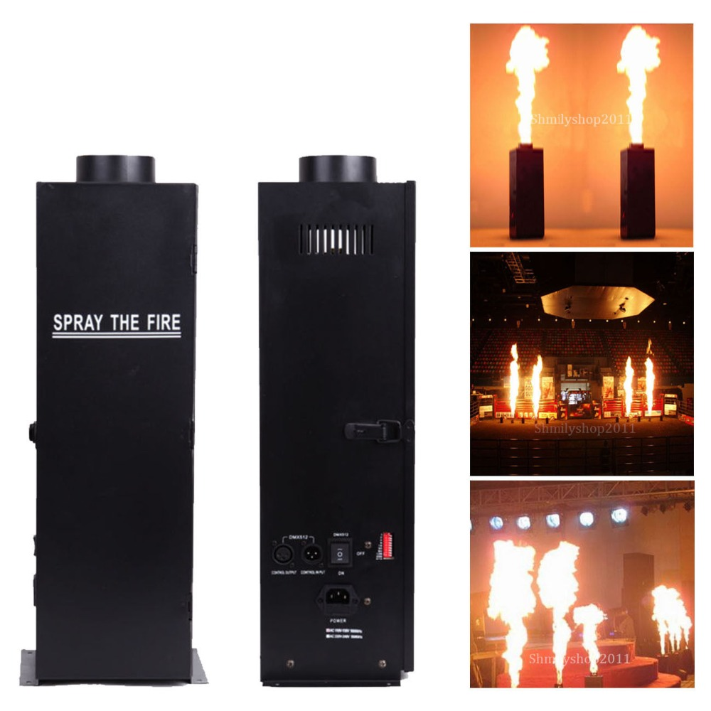 цена на (Ship From USA) 2Pcs DMX Fire Effect Projector Spray Machine DJ Stage Show Party Flame Thrower