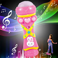 Drop shippingSimpleStone Wireless Girls Boys LED Microphone Karaoke Singing Kid Funny Music Toy June30 mosunx