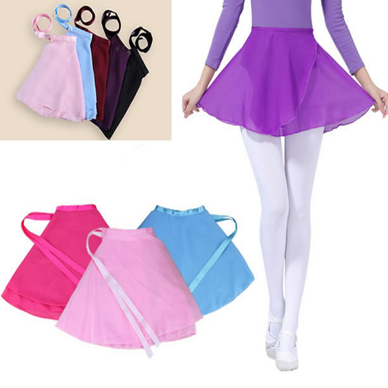 Fashion New 2017 Girl Girls Kids Child Children Ballet Tutu Dance Chiffon Skirt Skirts Hot Girl Tutus Skate Wrap Dancewear saia