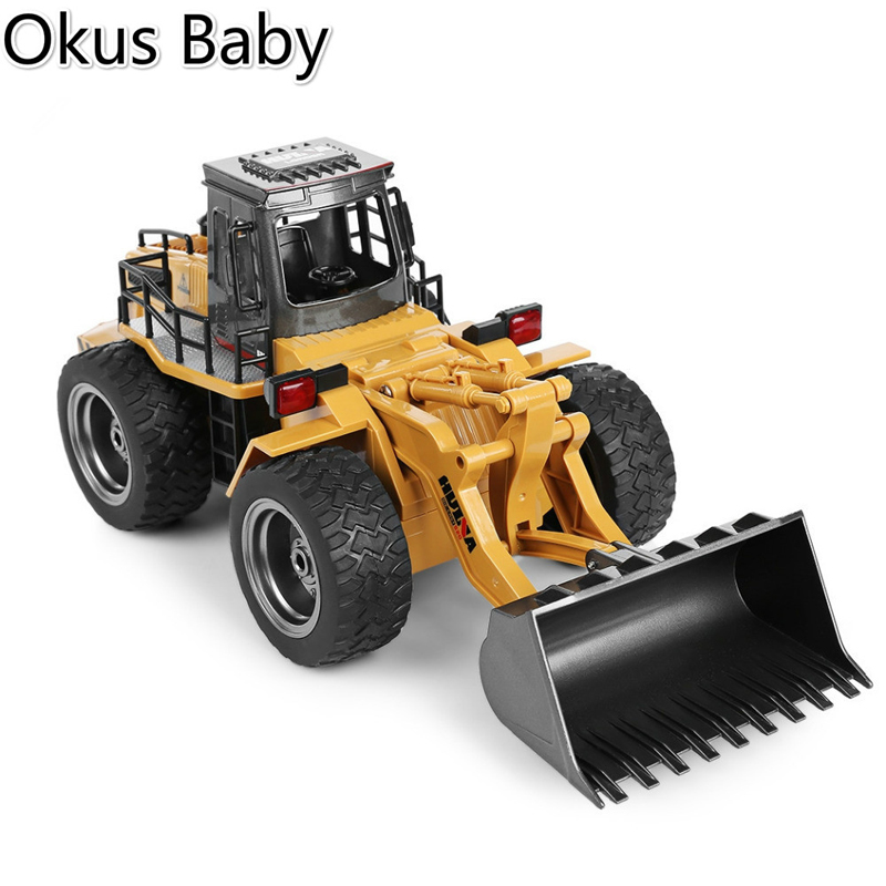 2019 Newest RC Car 6CH 1/18 Trucks Metal Bulldozer Charging RTR Remote Control Truck Construction Vehicle Cars For Kids Toys