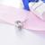 Sistemas de la joyería de plata 925 collar stud pendientes para las mujeres bailando flor cubic zirconia cz diamond joyería de la boda accesorios