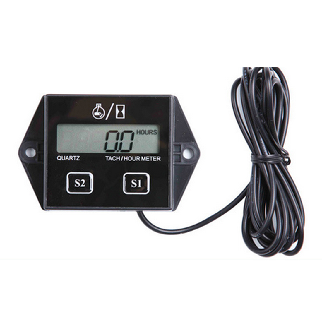 1Pc Waterproof Digital Motor Timers Hour Meter Tachometer Gauge Engine LCD Display For Moto Marine Boat Motor Stroke Engine Car image