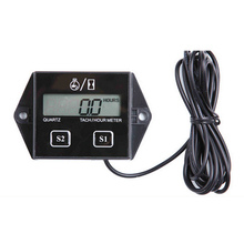 Waterproof Tachometer Digital Motor Timers Hour Meter Gauge Engine LCD Display For Moto Marine Boat Motor Stroke Engine Car ged2600p engine laser tachometer motor machine automobile rotate speed tester digital engine tachometer ged 2600p fast shipping