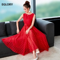 Red Black Ball Gown Dress New Fashion 2018 Autumn Women Bow Tie Elegant Party Evening Sleeveless Mid Calf Length Dress Club Girl