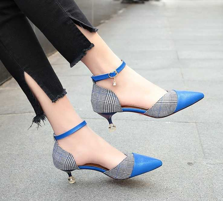 5CM size 34-39 Pointed Toe women banquet Pumps lady Wedding Party Shoes girl  cloth 5088f9a5488