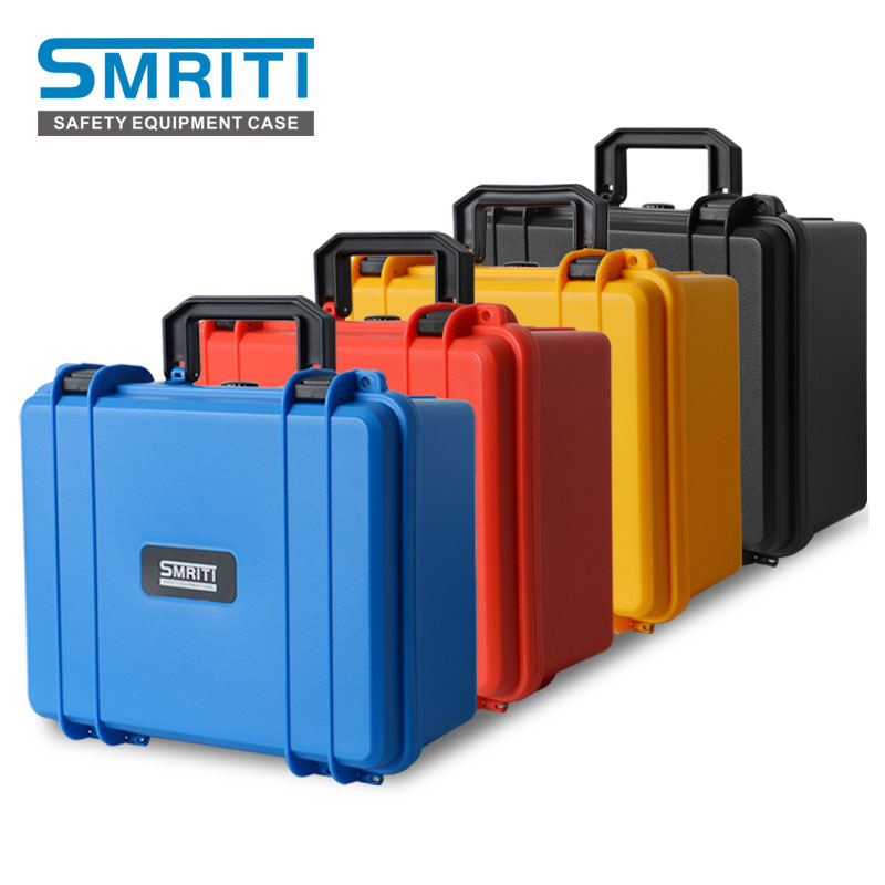 Safety Instrument Tool Box ABS Plastic Storage Toolbox Sealed Tool Case Box With Pre-cut Foam 4 Colors