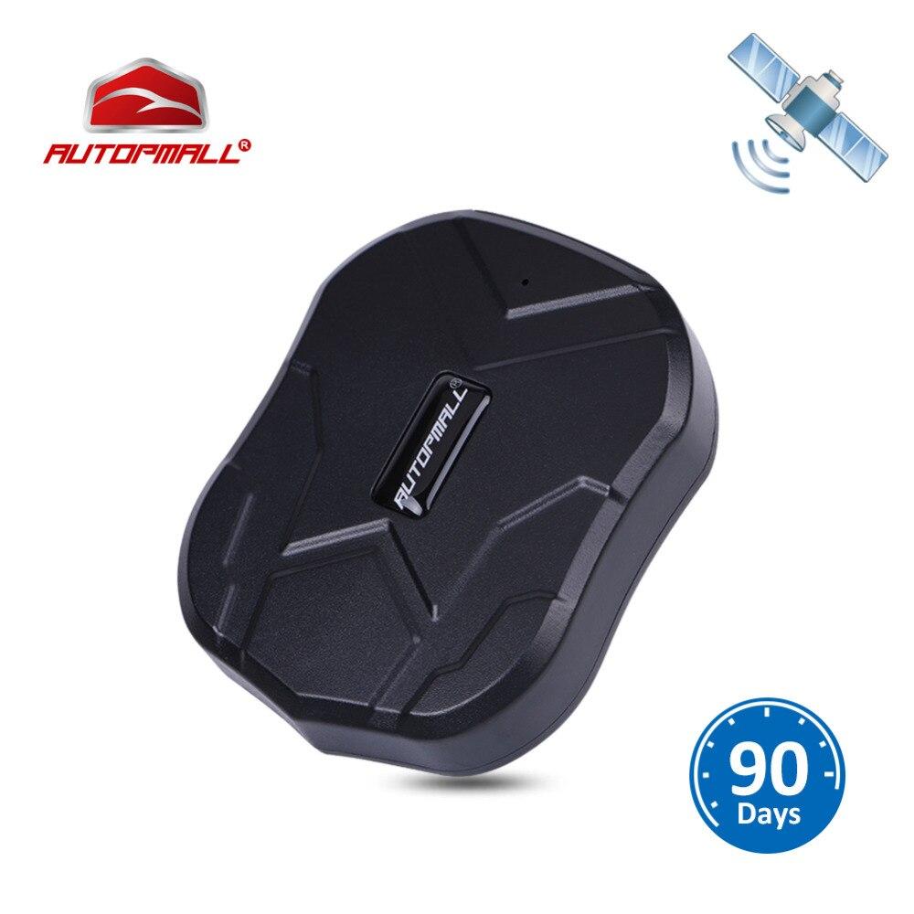 GPS perseguidor del coche GPS para vehículos localizador tk905 impermeable imán espera 90 días Tiempo Real lbs posición Seguimiento de por vida
