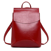 Fashion Women Backpack High Quality Youth Leather Backpacks for Teenage Girls Female School Shoulder Bag Bagpack mochila цены онлайн