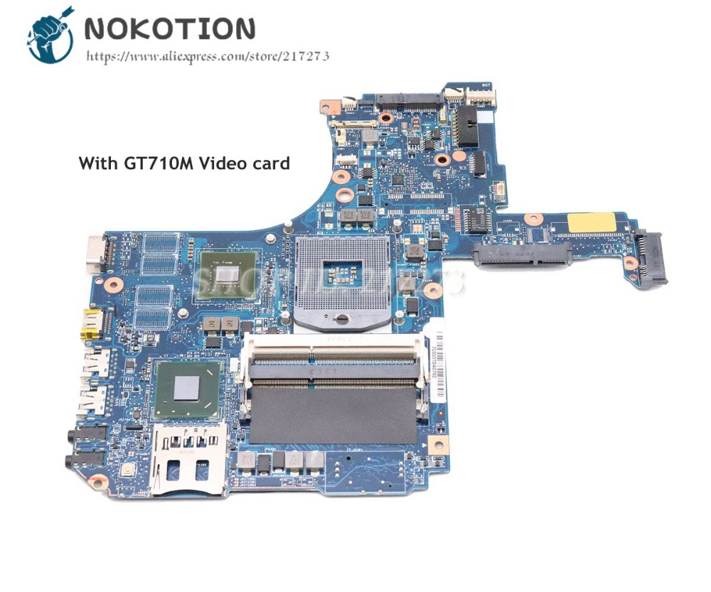 NOKOTION For Toshiba Satellite L50 L50-A Laptop Motherboard HM76 DDR3 GT710M Video Card H000055960 VGFG MB REV 2.1