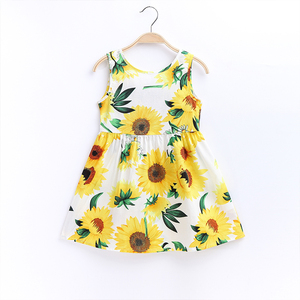 Baby Girls Dress Summer Flower Princess Dresses For Girl Children Clothes Kids Toddler Dresses For Birthday 2 to 7 Years Old(China)