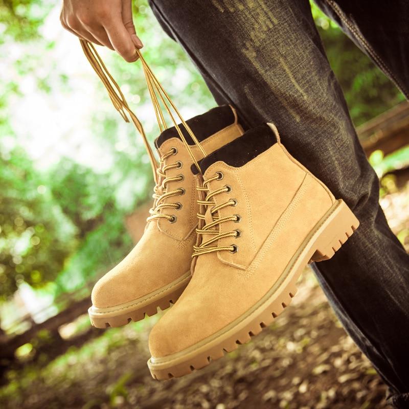 Borracha Npezkgc Venda Homens Qualidade Quente Inverno Bota Masculinos Black Botas Trabalho 2017 De green Segurança Do Tornozelo Genuíno Marca Sapatos Couro Homem Ocasional Exército yellow FFrAxw