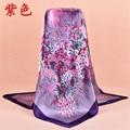 Fashion scarf women vintage flower pattern scarf shawl anti-silk scarf free shipping 90 * 90 cm